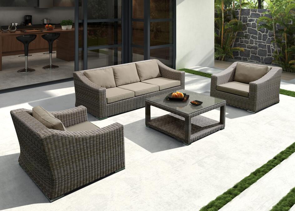 """Плетеная мебель """"Glendon"""" brown grey"""