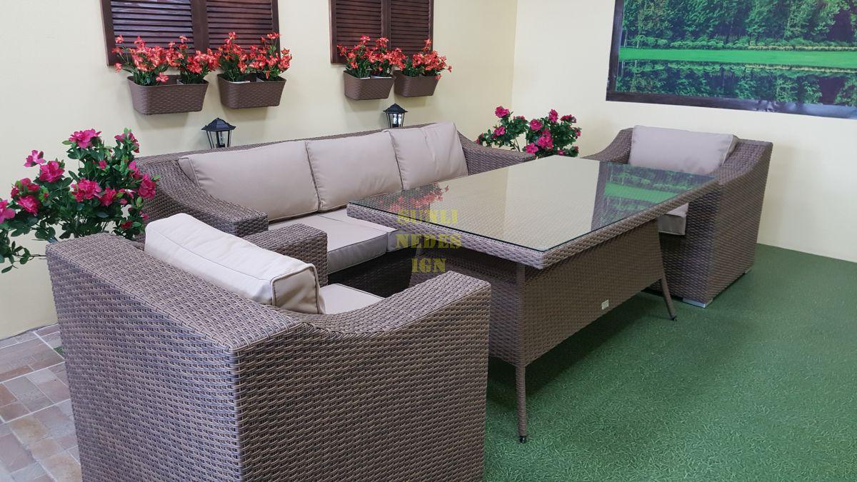 """Плетеная мебель """"Glendon"""" dining beige"""