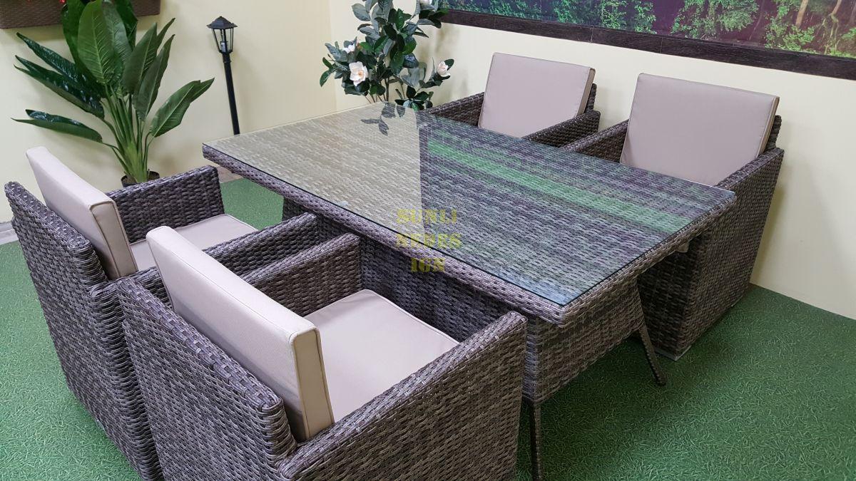 "Плетеная мебель ""Infinity & Samurai"" brown grey 4"
