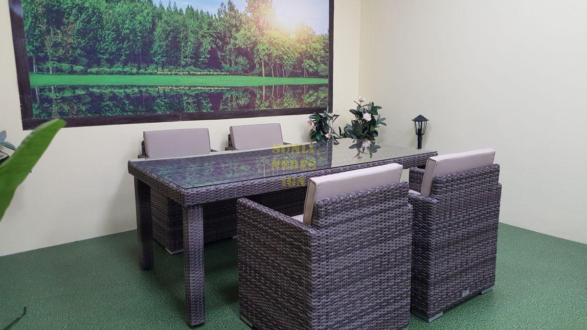 """Плетеная мебель """"Infinity"""" 160 brown grey 4"""