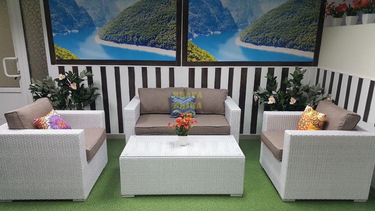 """Плетеная мебель """"Louisiana"""" lounge white beige"""