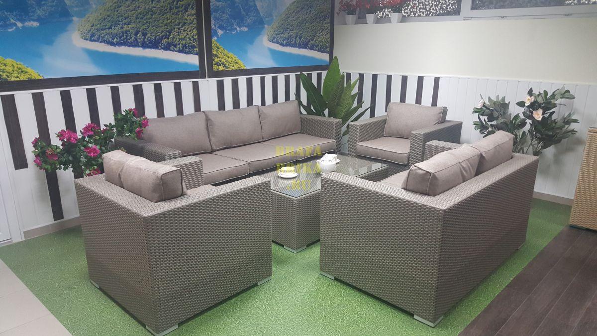 """Плетеная мебель """"Louisiana"""" patio set mocco"""