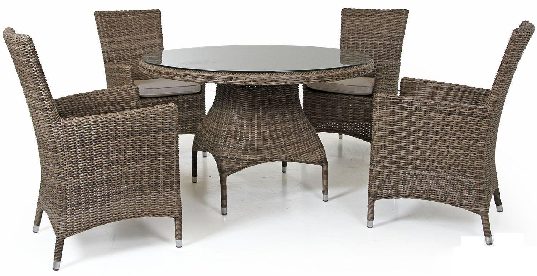 "Плетеная мебель ""Ninja"" brown D 120 Brafab"