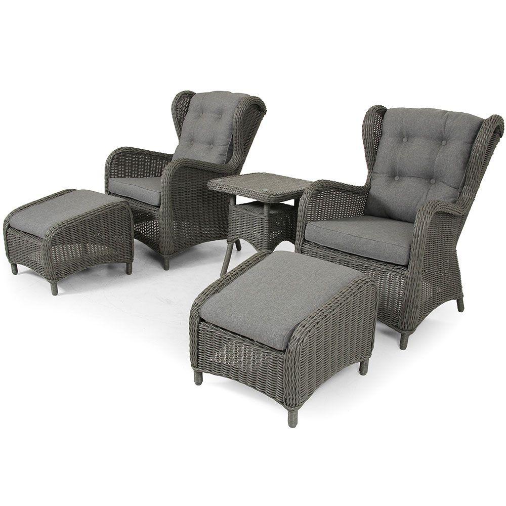 """Плетеная мебель """"Rosita"""" grey лаунж Brafab"""