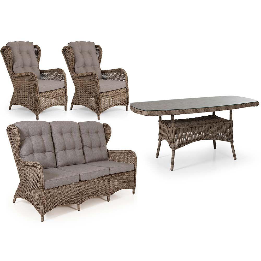"""Плетеная мебель """"Rosita"""" natur столовая Brafab"""