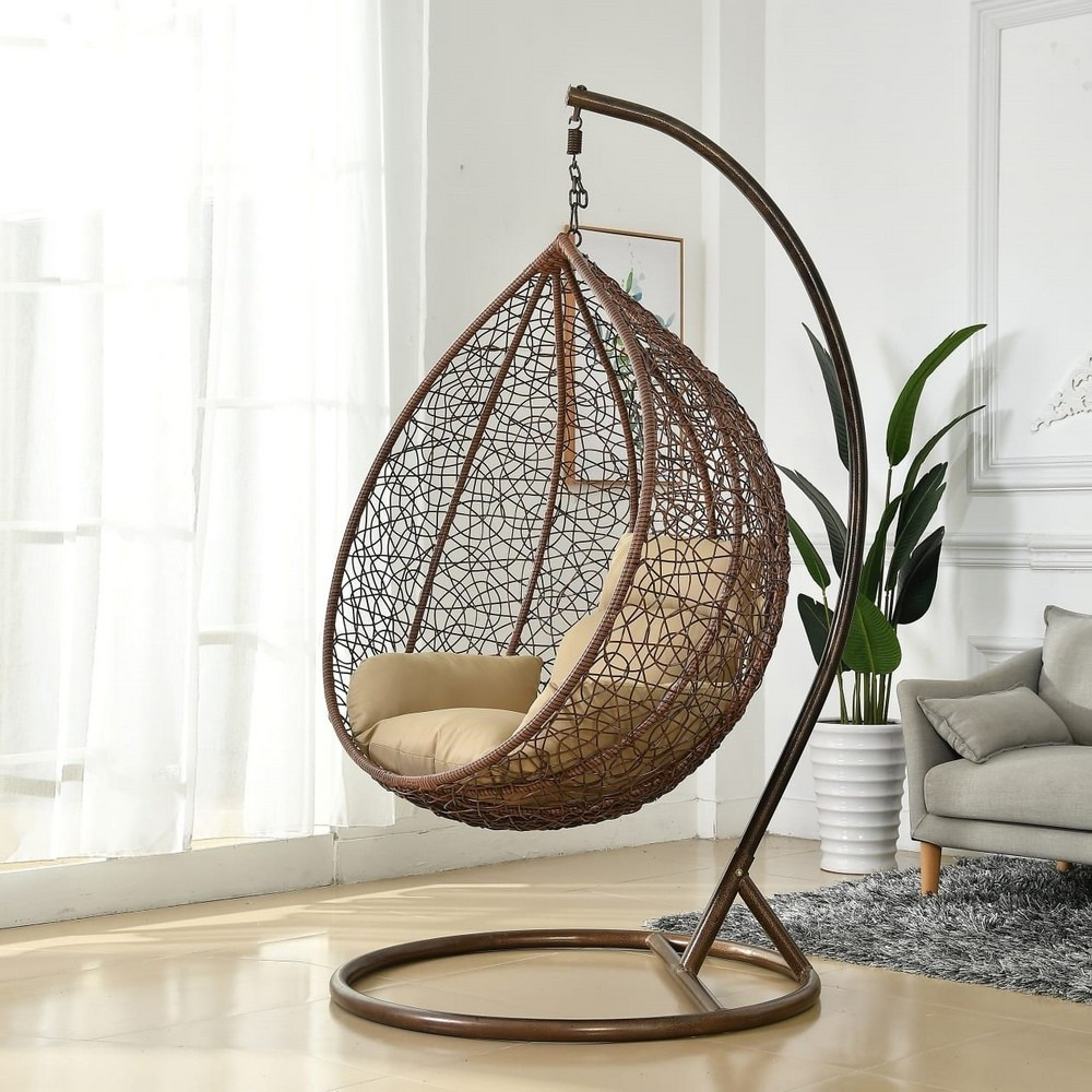 "Подвесное кресло ""Tahiti"" brown большая корзина"