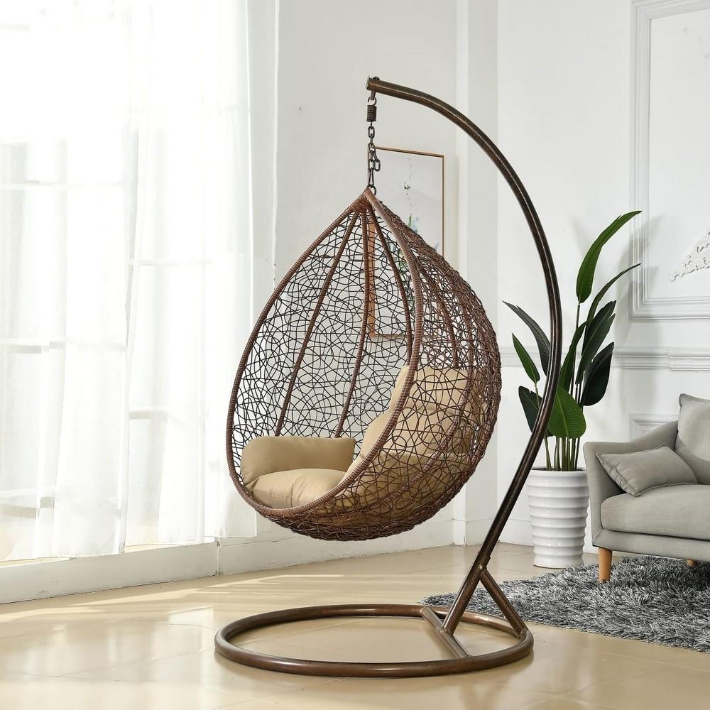 """Подвесное кресло """"Tahiti"""" brown средняя корзина"""