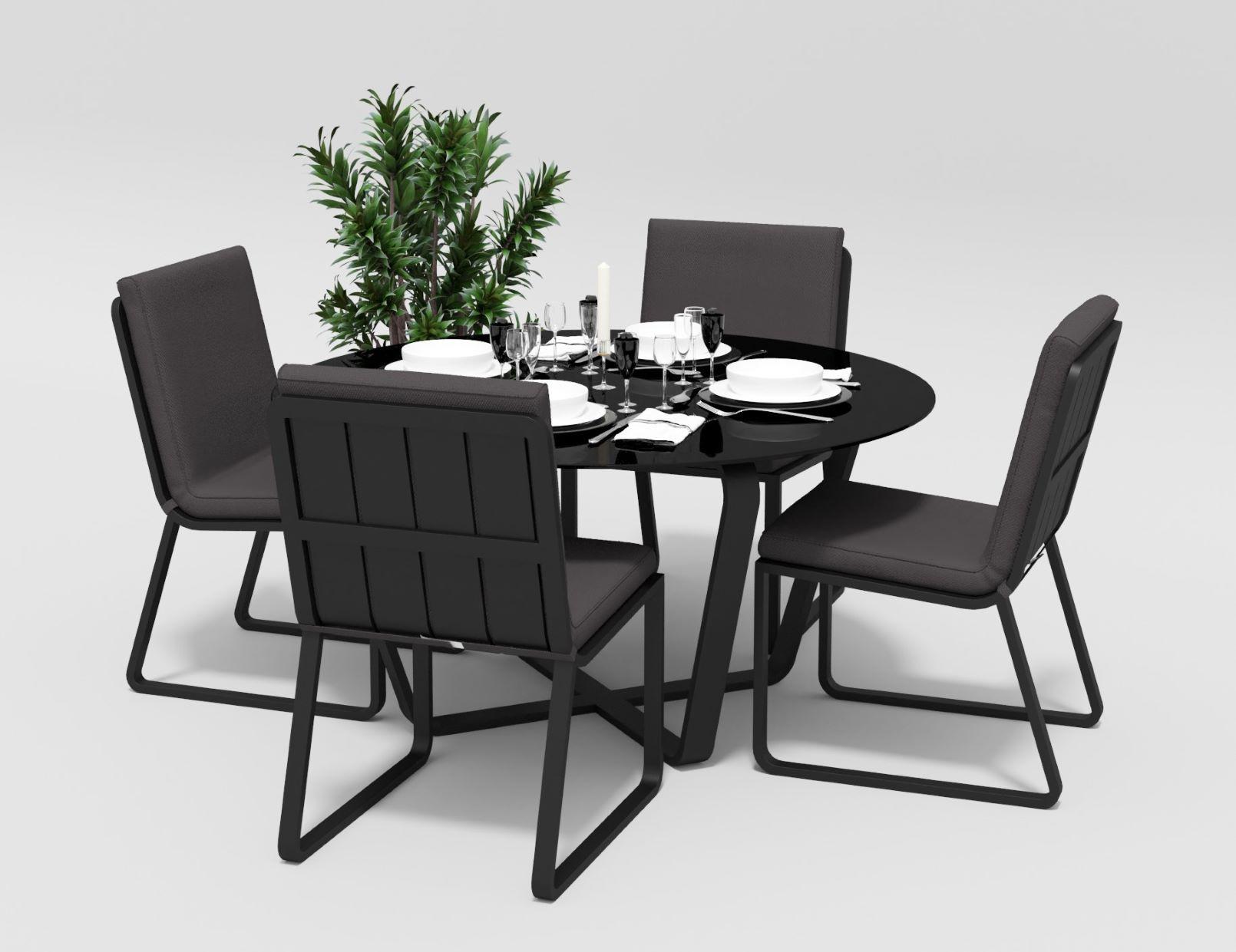 "Садовая мебель ""Primavera"" model 1 carbon anthracite"