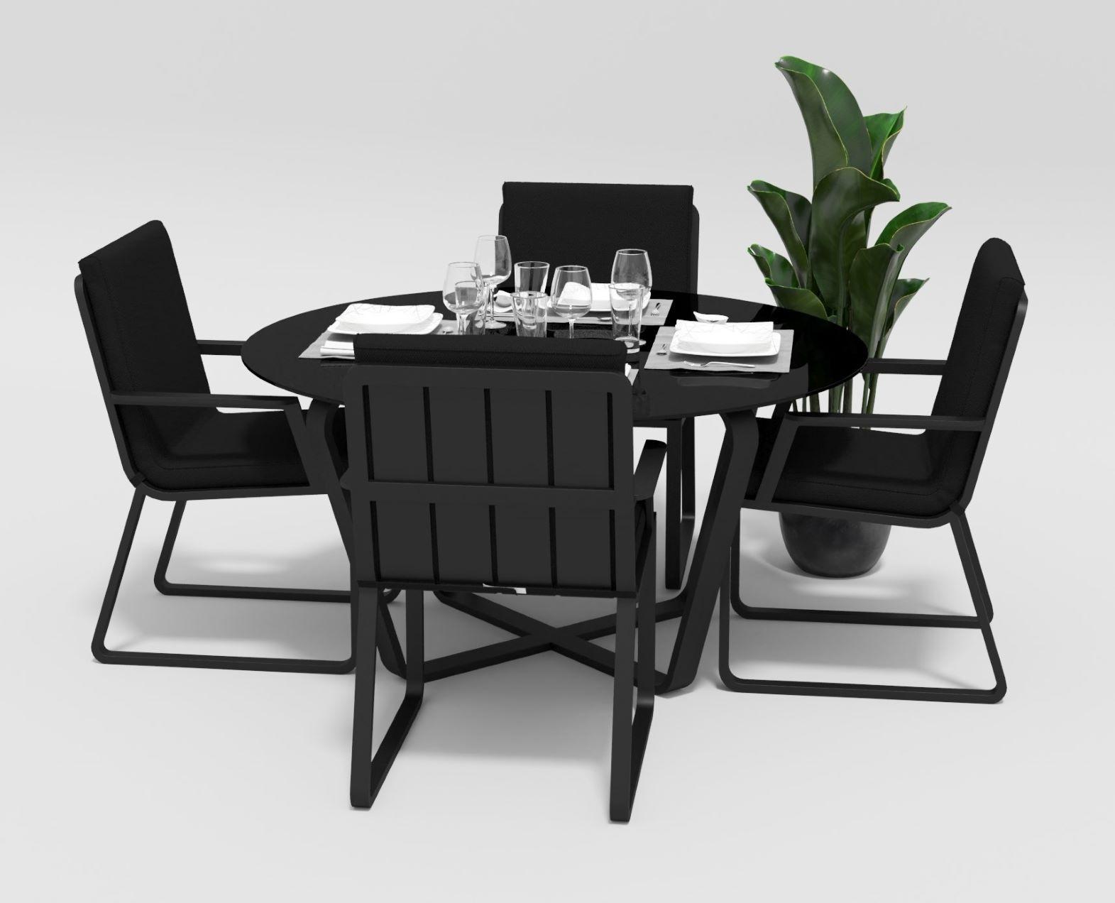 """Садовая мебель """"Primavera"""" model 2 carbon black"""