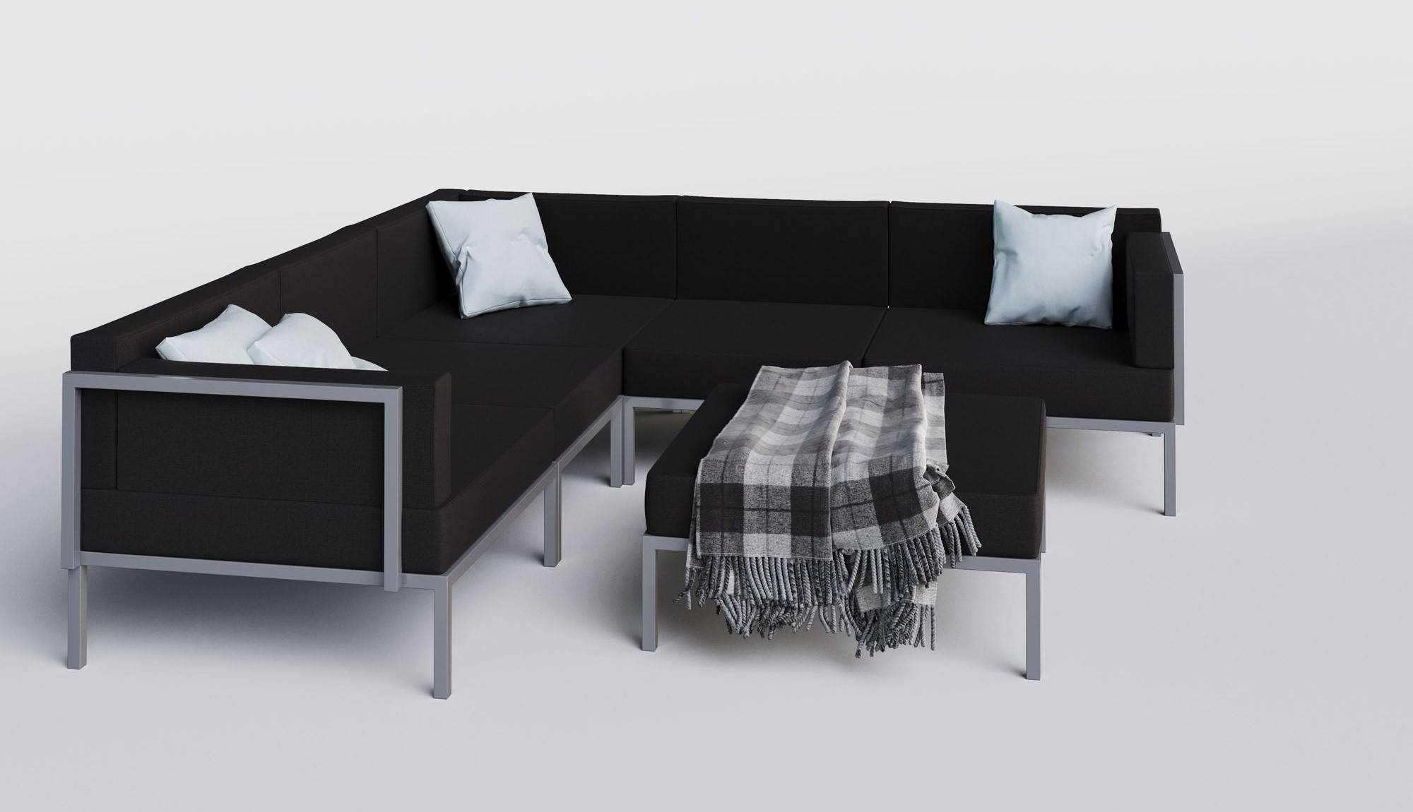 "Садовая мебель ""Serenita"" silver black"