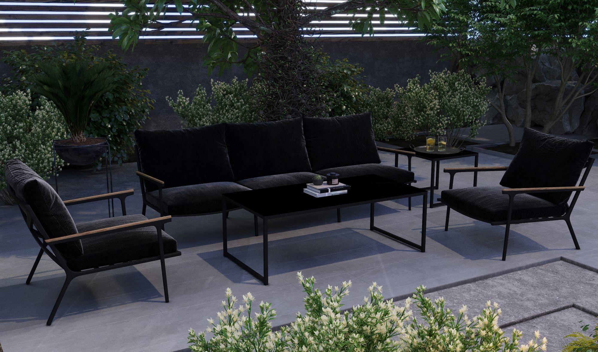 """Садовая мебель """"Calma"""" lounge black"""