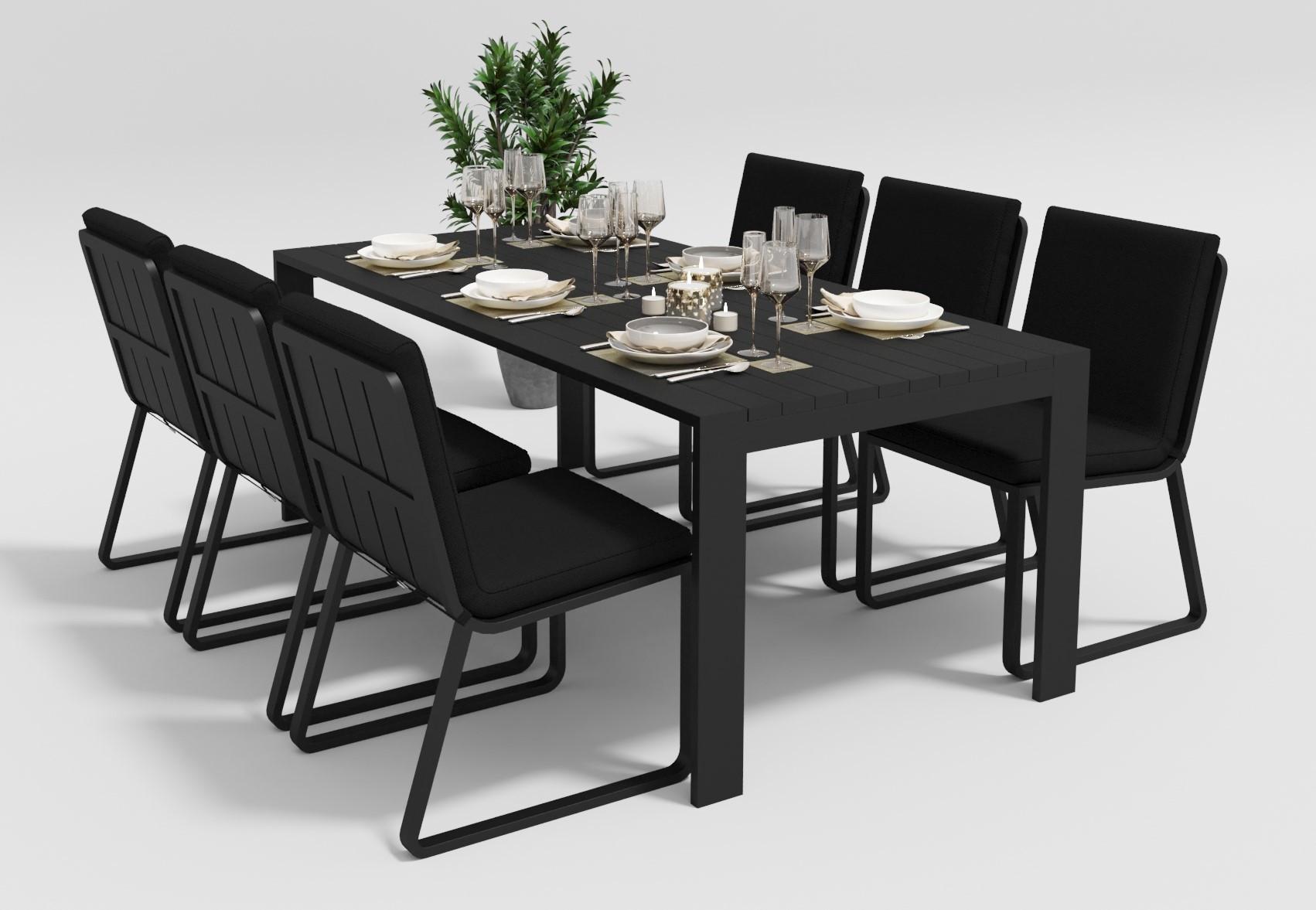 """Садовая мебель """"Malia"""" 200 model 1 black"""