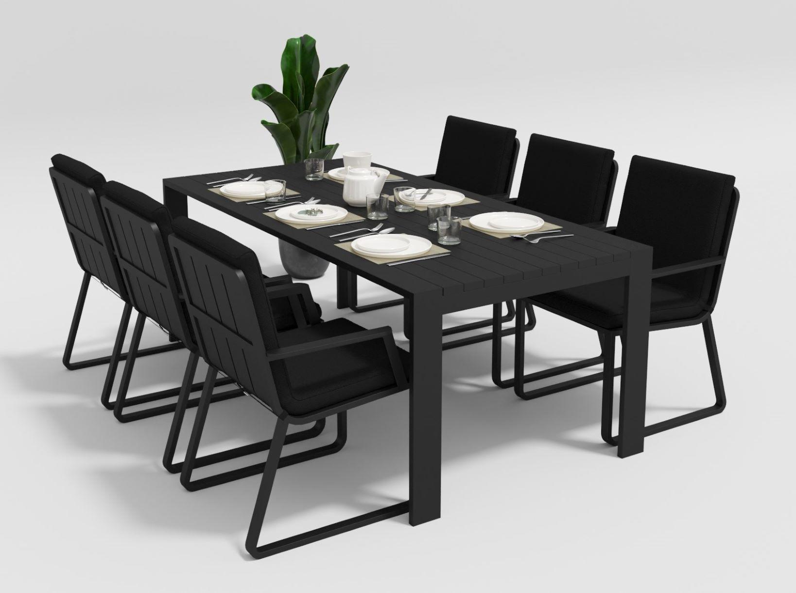 """Садовая мебель """"Malia"""" 200 model 2 black"""