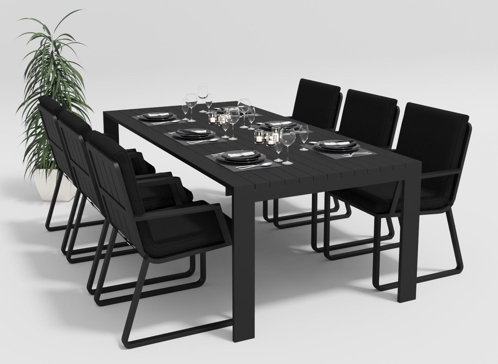 """Садовая мебель """"Malia"""" 220 model 2 black"""
