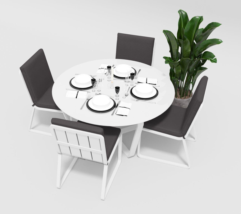 """Садовая мебель """"Primavera"""" model 1 white anthracite"""