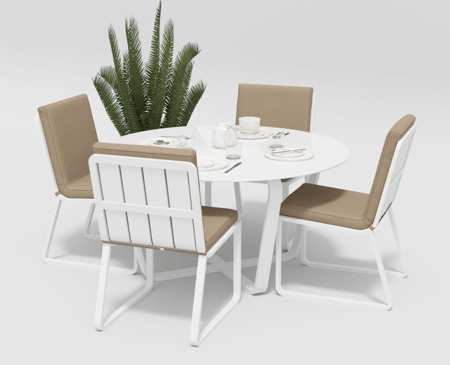 """Садовая мебель """"Primavera"""" model 1 white beige"""