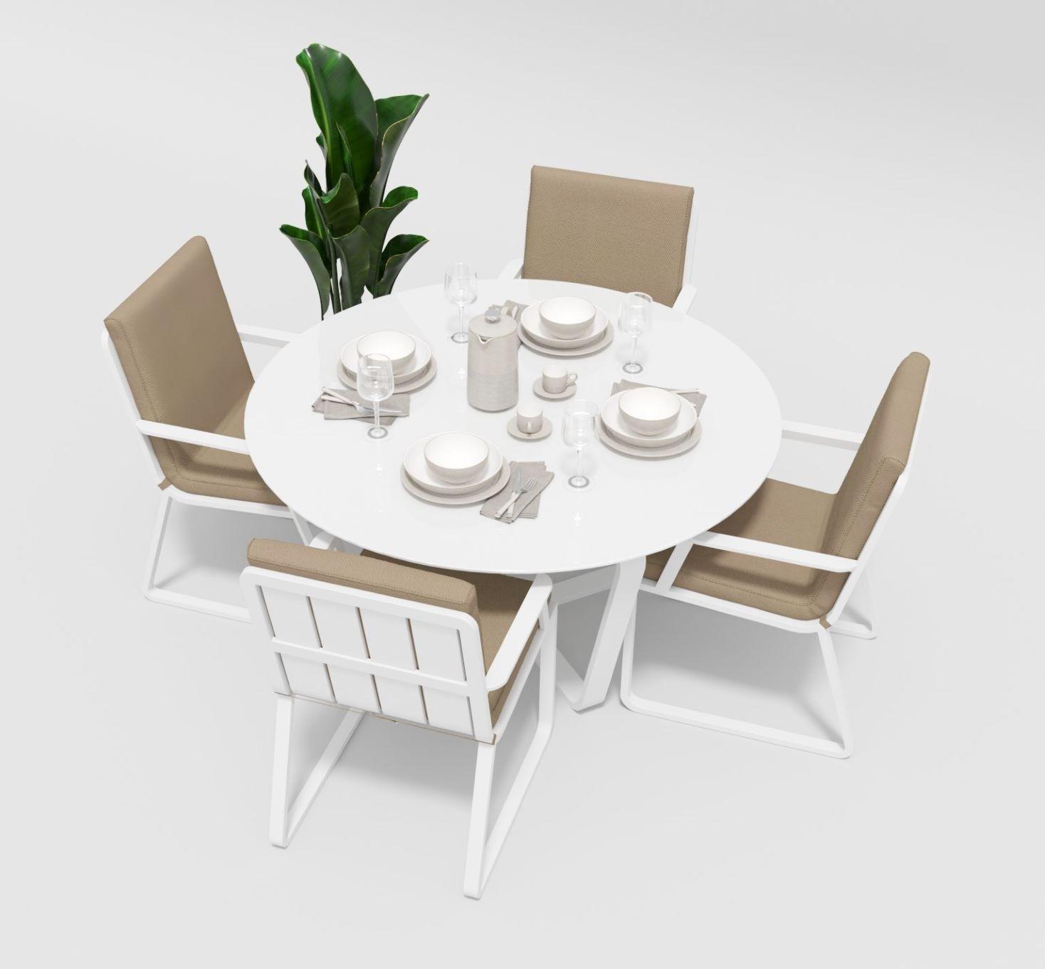 """Садовая мебель """"Primavera"""" model 2 white beige"""