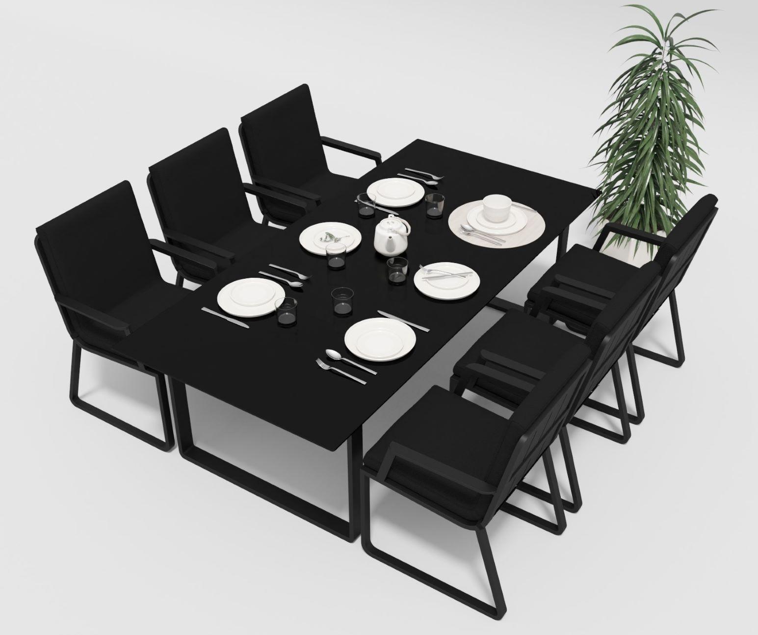 "Садовая мебель ""Voglie"" 220 model 2 carbon black"