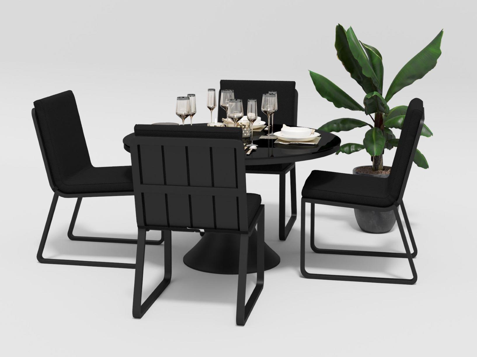 "Садовая мебель ""Voglie"" model Round carbon black"
