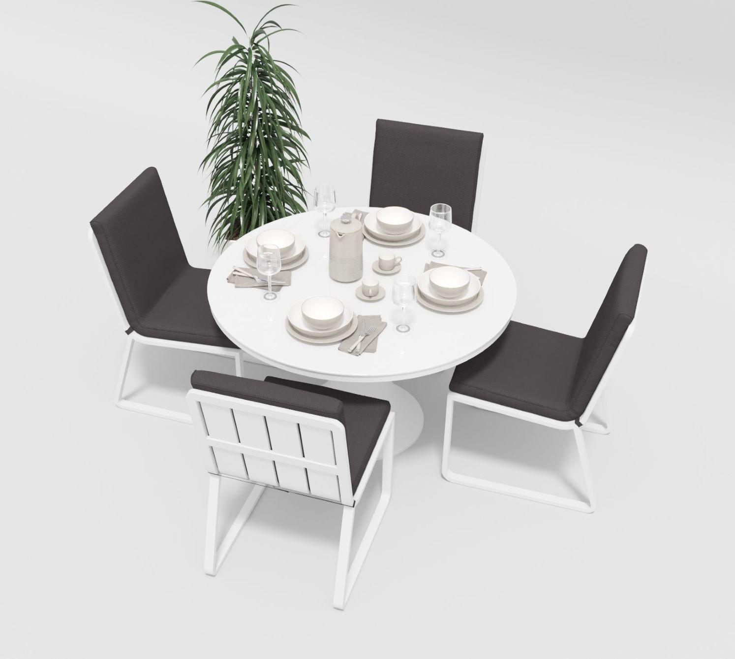 """Садовая мебель """"Voglie"""" model Round white anthracite"""