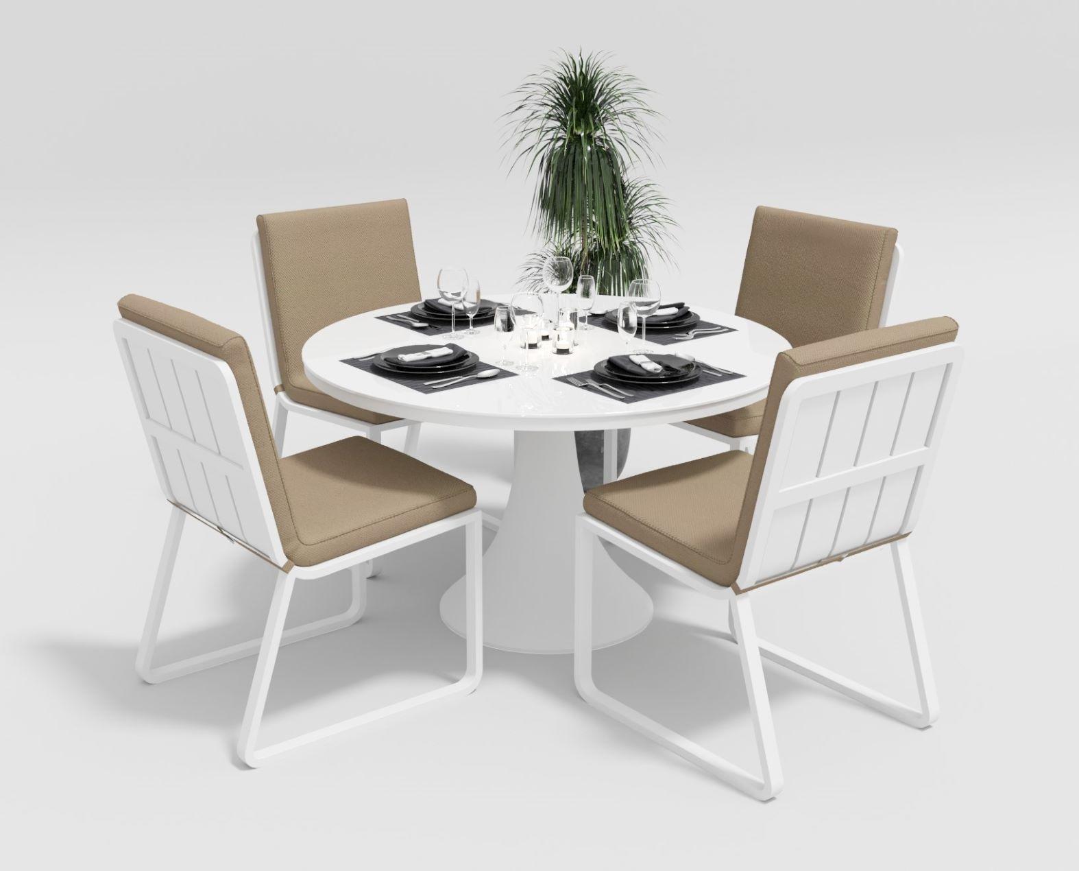 """Садовая мебель """"Voglie"""" model Round white beige"""