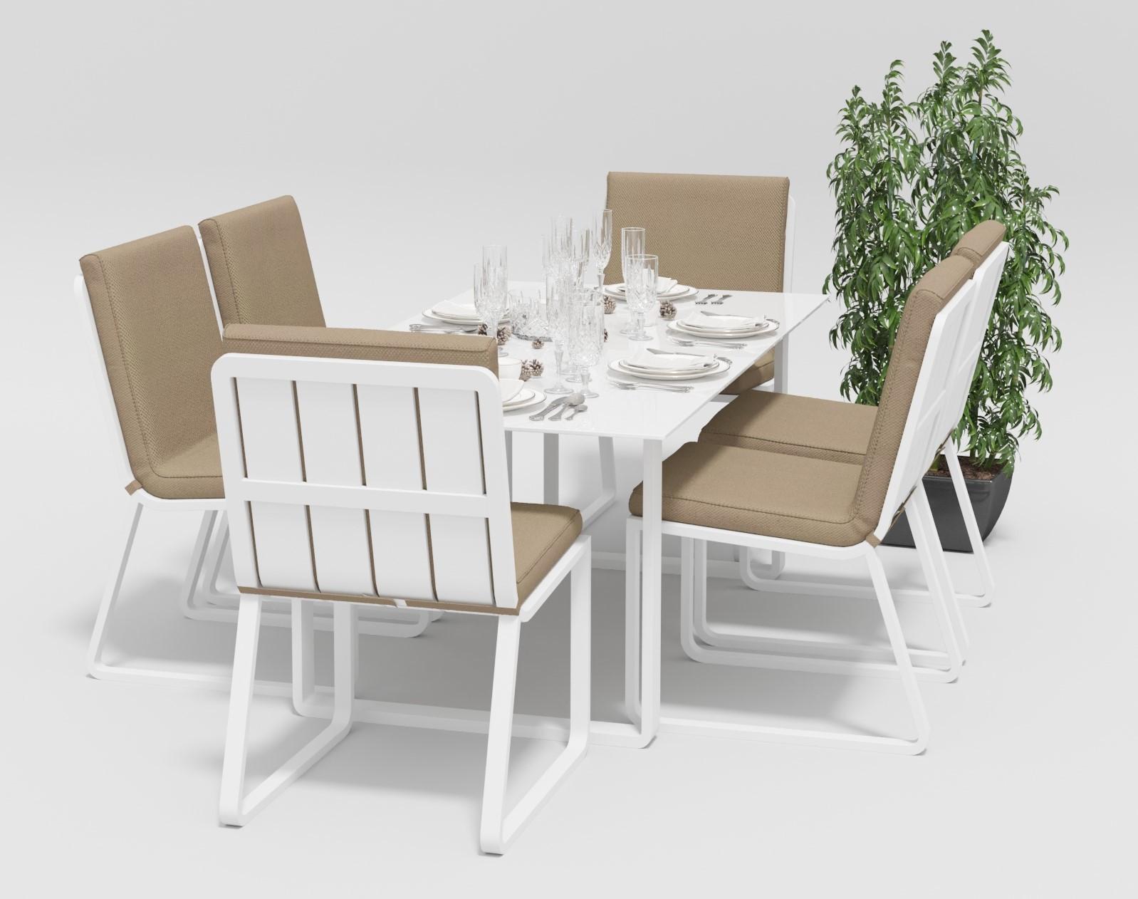 """Садовая мебель """"Voglie"""" 180 model 1 white beige"""