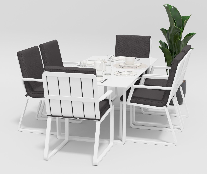 "Садовая мебель ""Voglie"" 180 model 2 white anthracite"