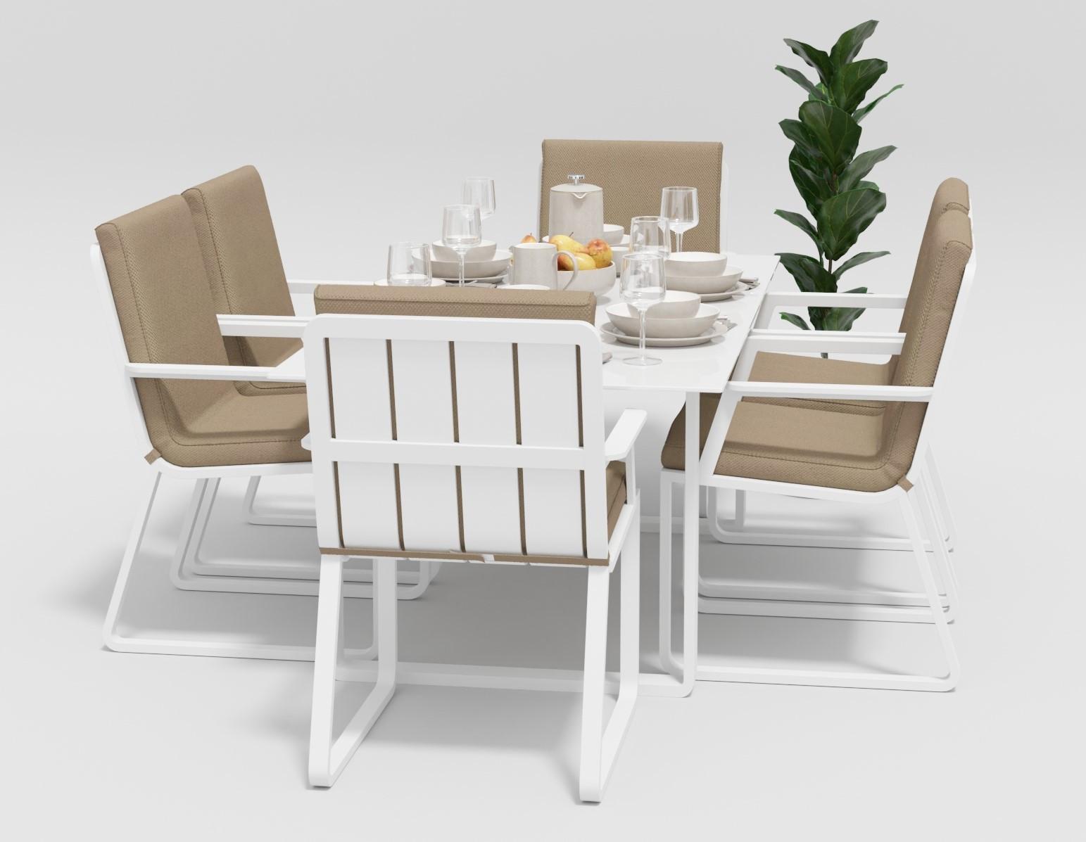 """Садовая мебель """"Voglie"""" 180 model 2 white beige"""
