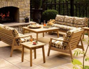 Садовая мебель из акации