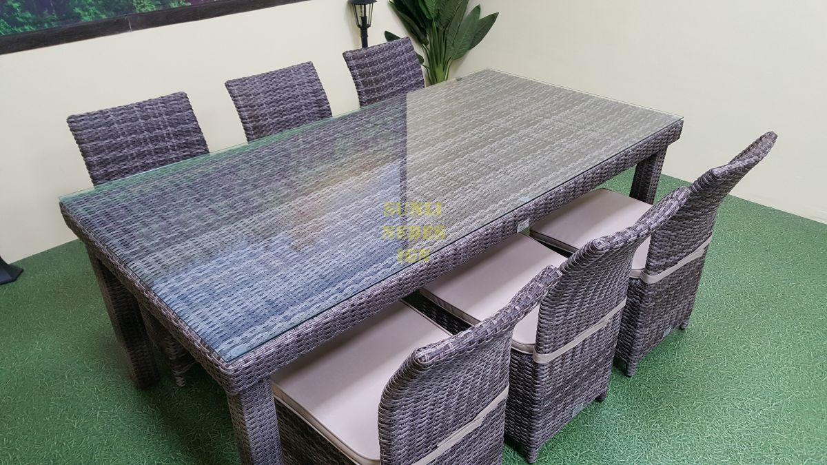 "Плетеная мебель ""Infinity & Rose"" brown grey 6"