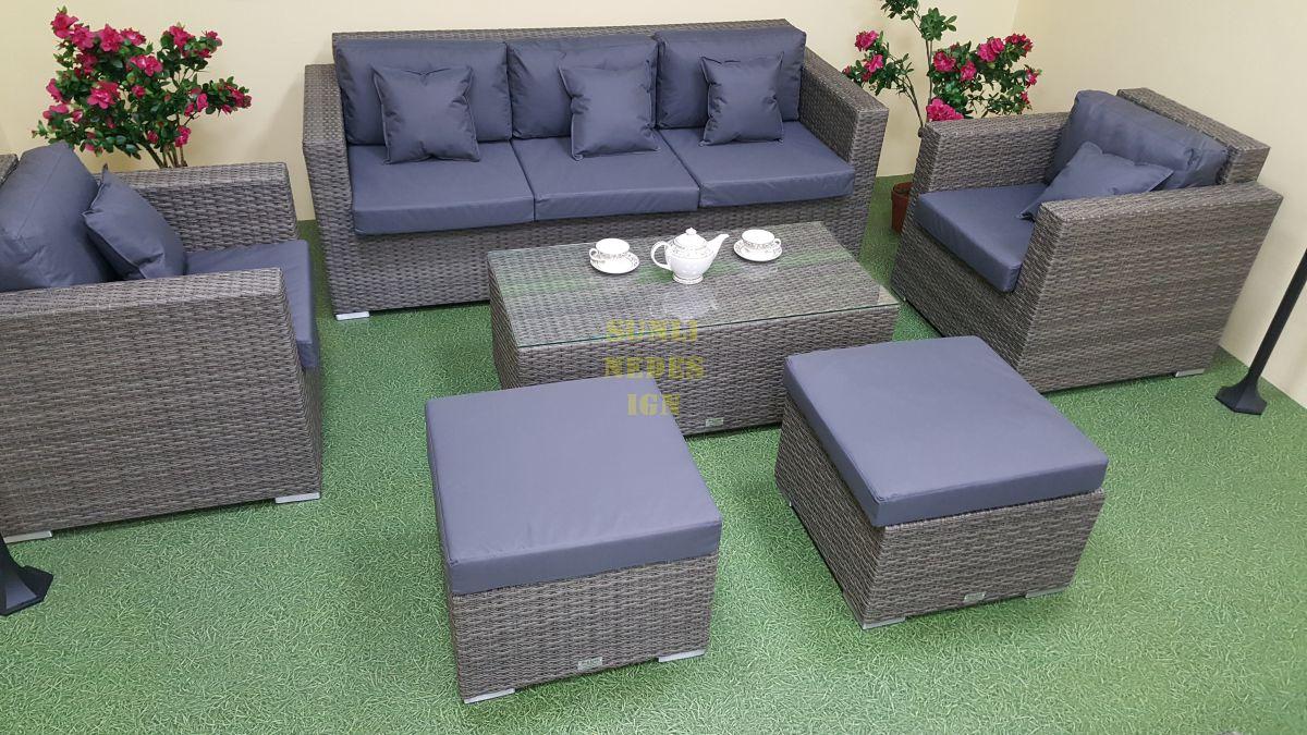 """Плетеная мебель """"Allegro"""" natur&grey set 1"""