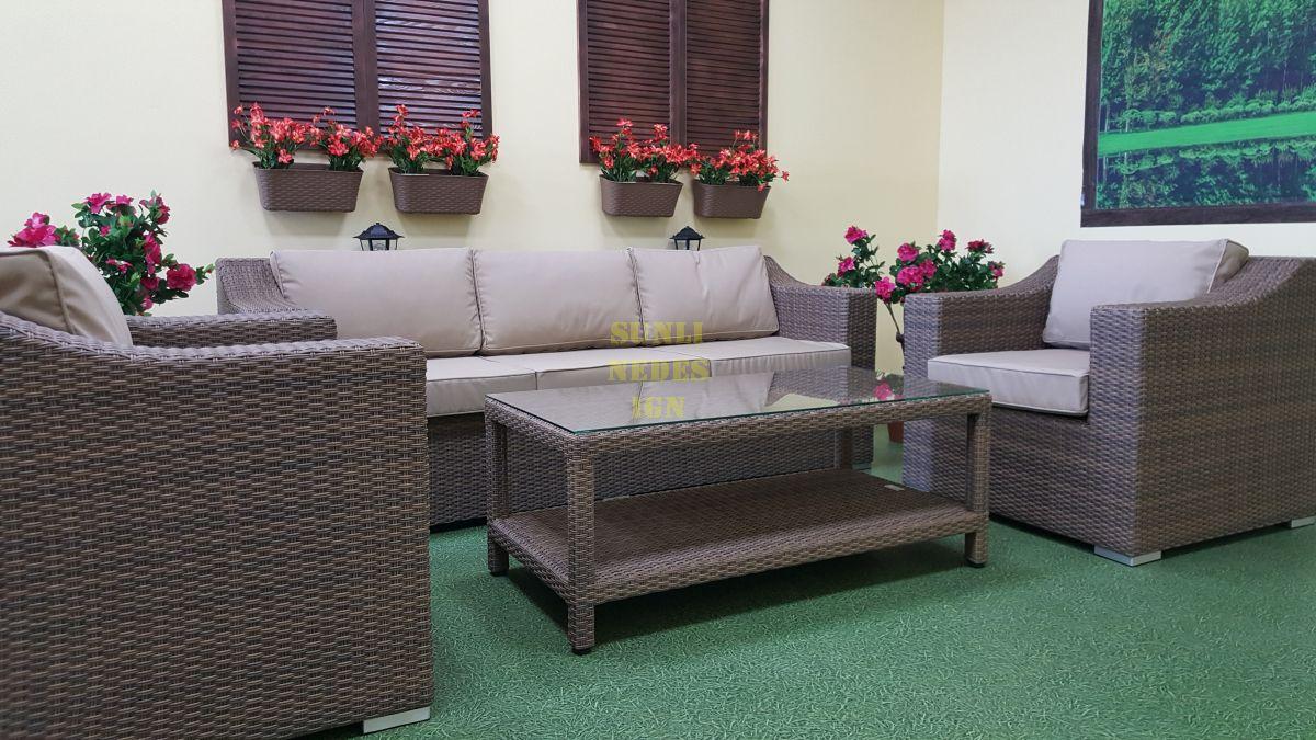 "Плетеная мебель ""Glendon"" lounge beige"