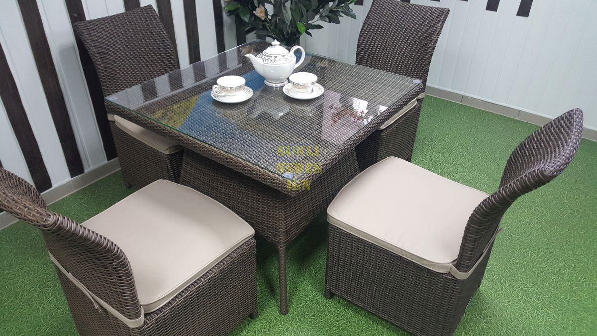 "Плетеная мебель ""Rose"" royal brown 4"