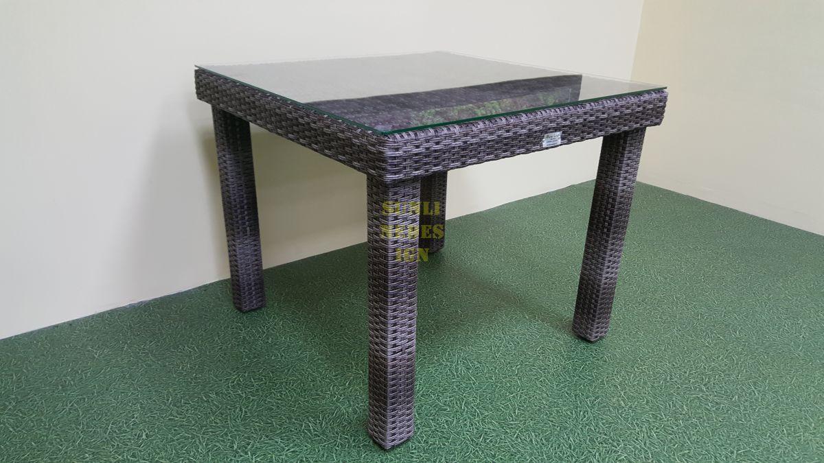 Стол плетеный «Infinity» 90 brown grey