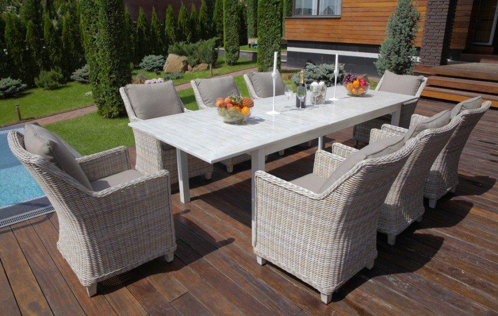 """Плетеная мебель """"Toscana"""" 8 grey"""