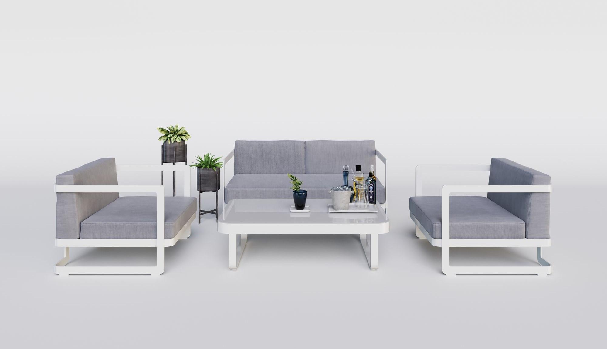 "Садовая мебель ""Villino"" white grey"