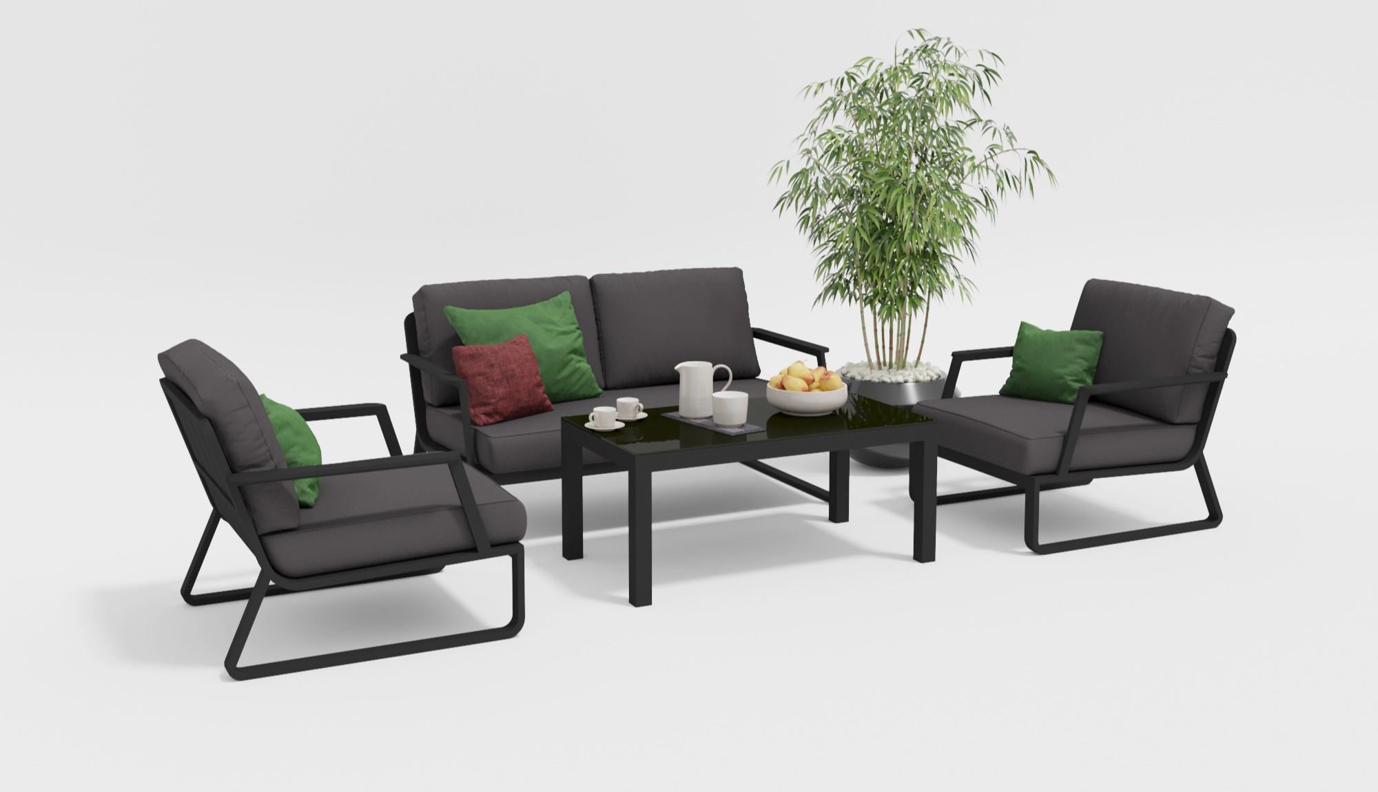 "Садовая мебель ""Voglie"" lounge carbon"