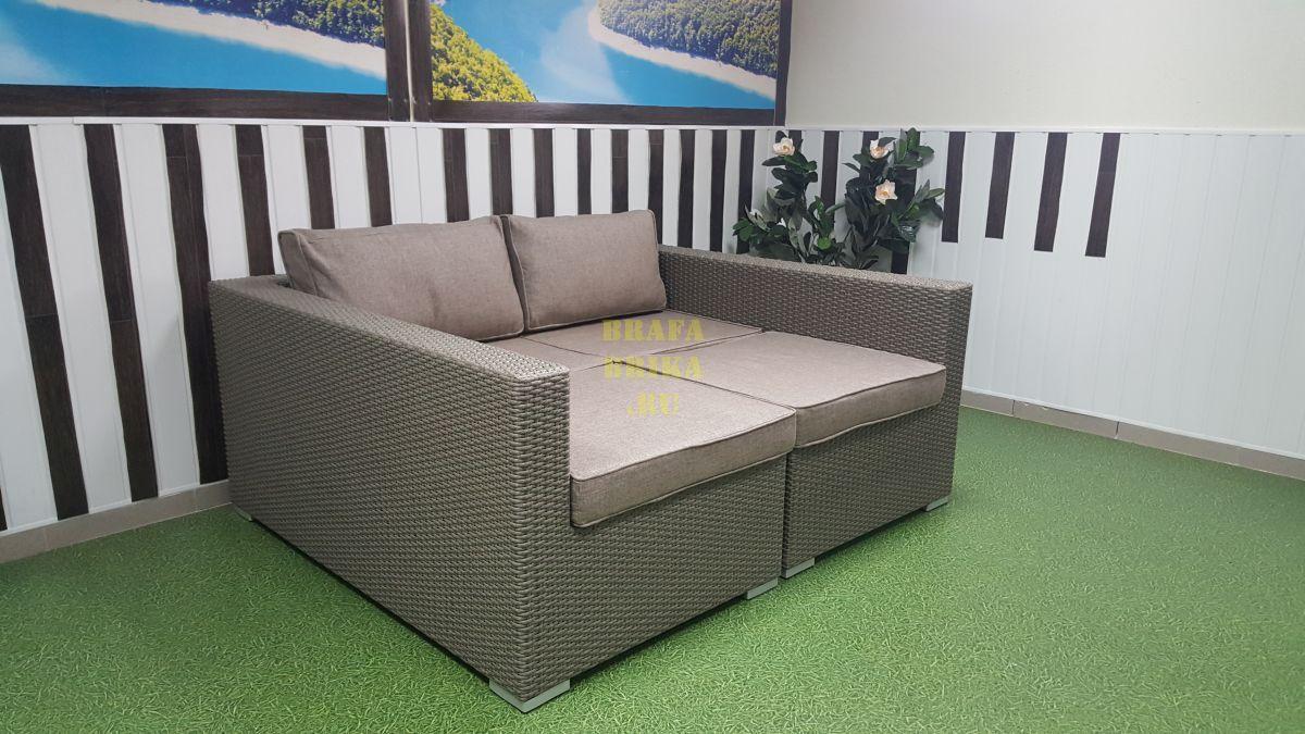 """Плетеная мебель лежак-кровать """"Louisiana"""" mocco"""